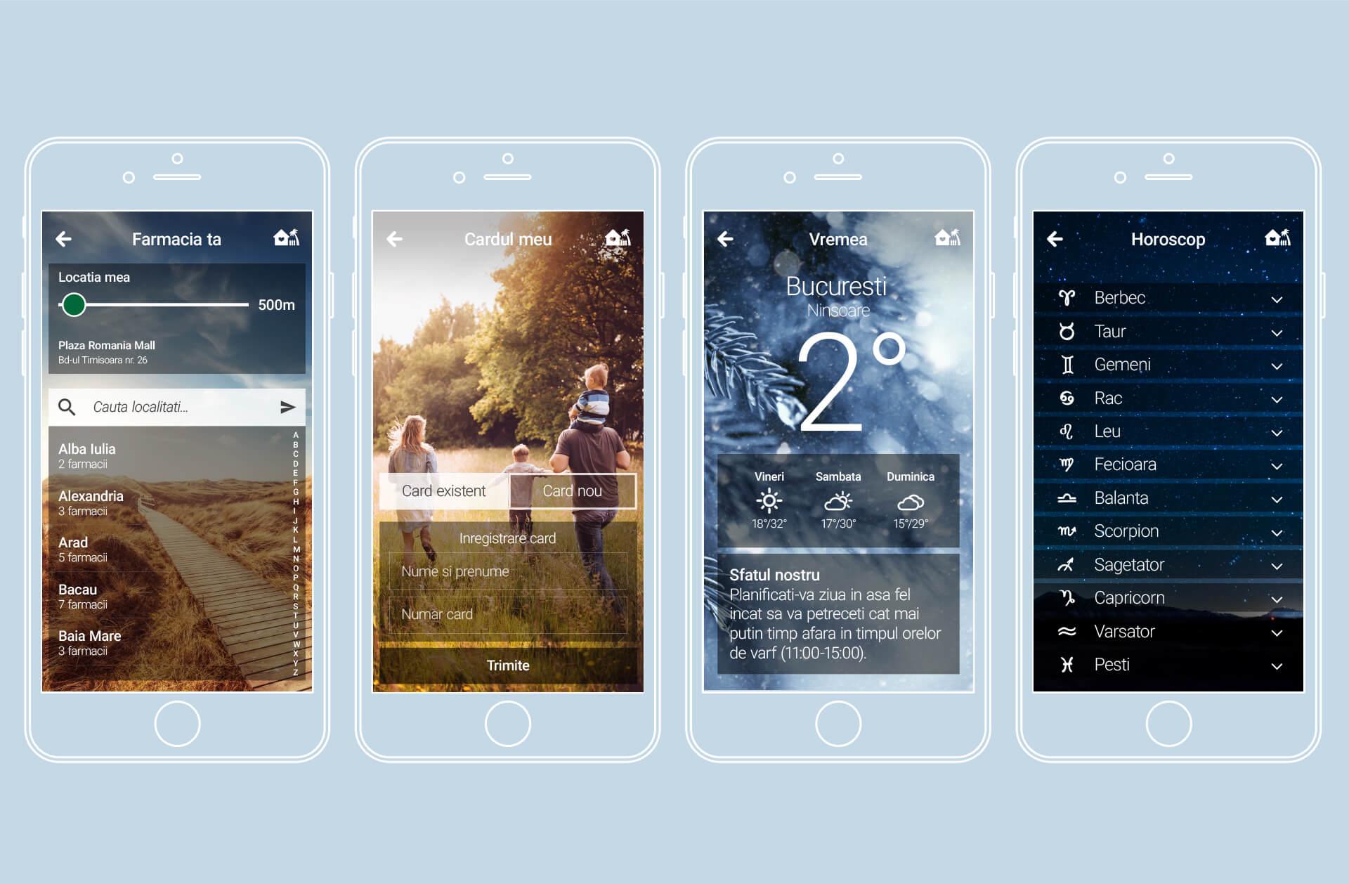 10 Mockup Sensiblu app