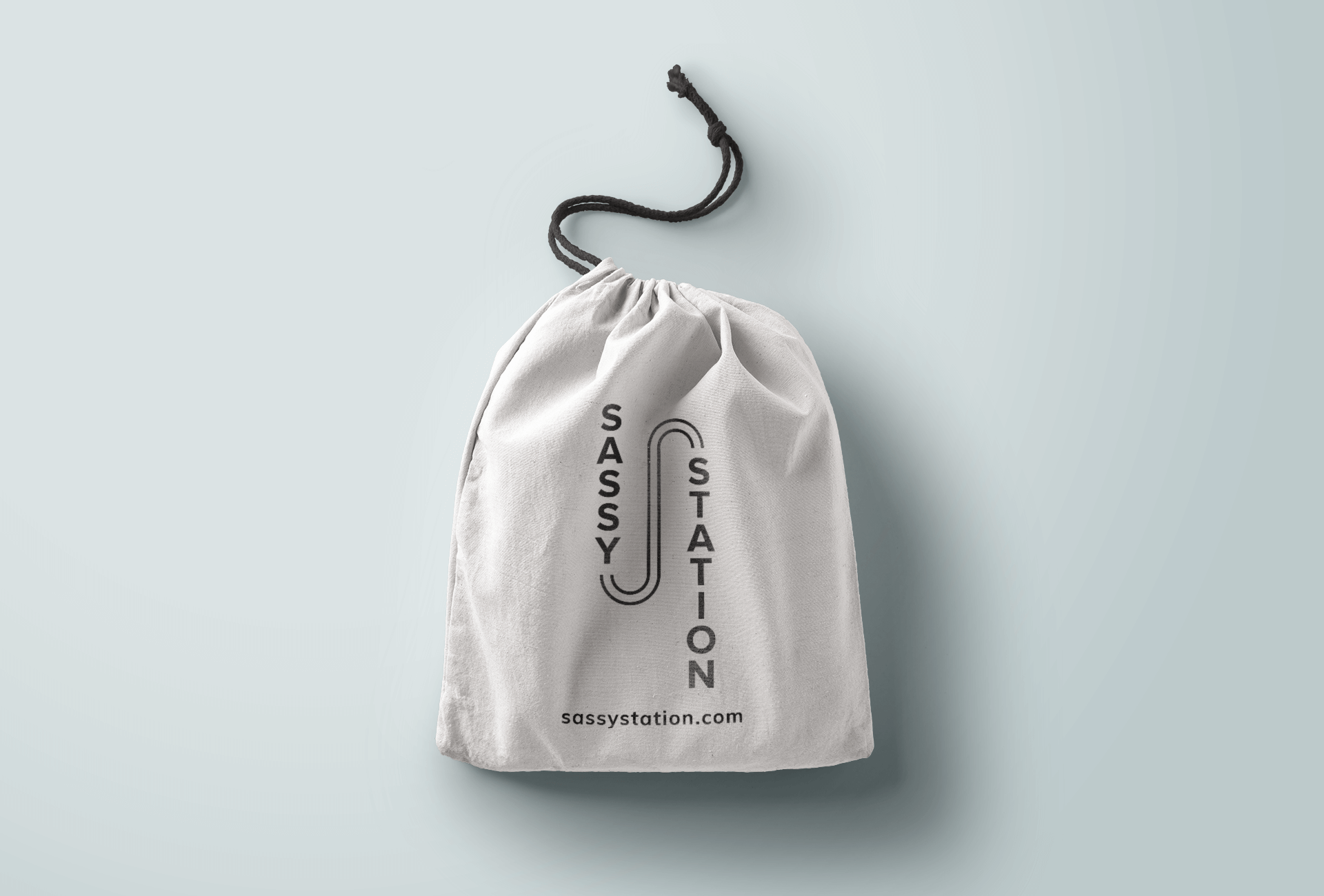 08 Drawstring bag mockup Sassy Station